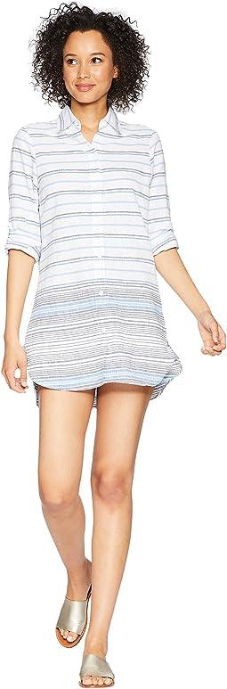 Linencotton Boyfriend Shirt Hem Cover-Up