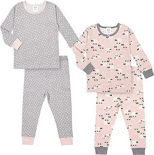 Baby Girls Organic 2 Pack 2-Piece Cotton Pjs