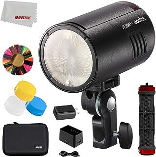 Godox AD100Pro 100W TTL 2.4G 1/8000 HSS Luz de flash para exteriores, batería de 2600mAh 0.01-1.5s reciclaje, con difusore...
