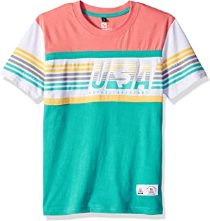 Southpole Boys' Big Stripe Short Sleeve Fashion Tee Shirt