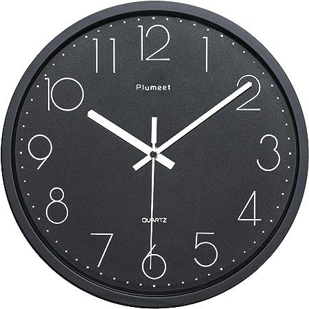 wall decor unique silent mechanism clock clock dragonflies 30 cm diameter black and silver vinyl 33 tours original