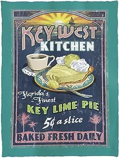 Lantern Press Key West, Florida - Key Lime Pie Vintage Sign 33628 (60x80 Poly Fleece Thick Plush Blanket)