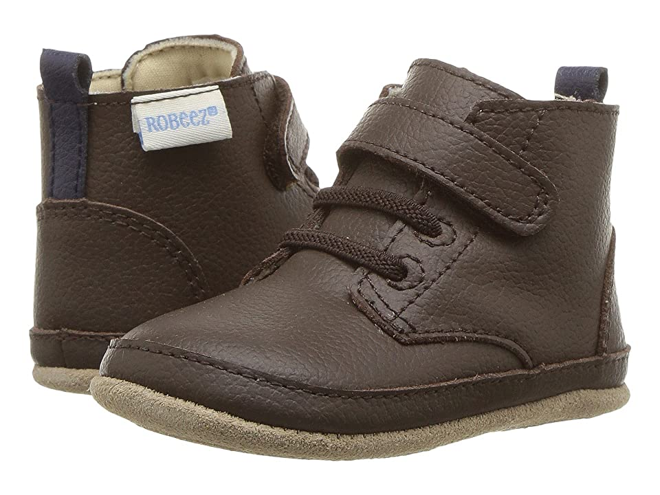 Robeez Nick Boot Mini Shoez (Infant/Toddler) (Espresso) Boys Shoes