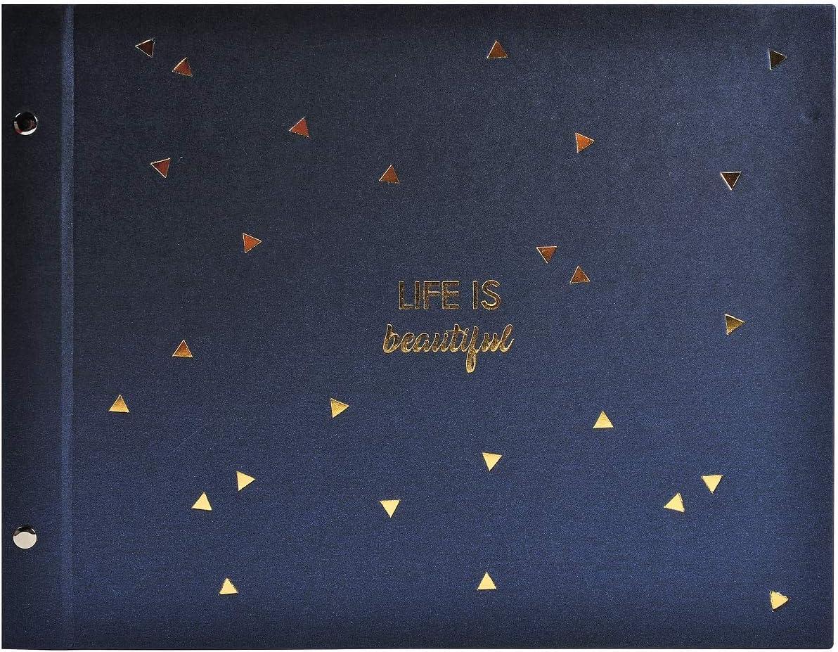 Exacompta Photo Album 37 x Japan Maker Large discharge sale New Blue 29 Navy cm