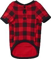 Moose On Plaid Dog Pajama