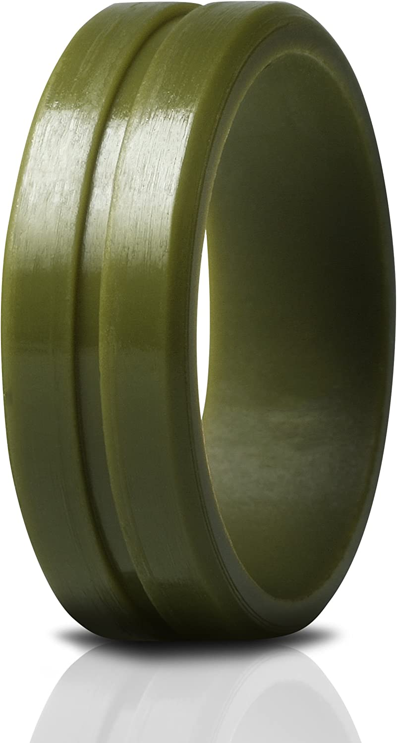 Saco Band Silicone Ring Wedding Bands for Men