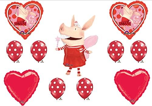 Olivia the Pig Birthday Party Balloons Decorations Supplies Favors by Anagram