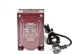 ACUPWR Tru-Watts 2000-Watt Step Down Voltage Transformer with IEC C13 Input and Type F Schuko Plug/Power Cord – Use 110-120-volt Appliances in 220-240-volt Countries - AD-2000IEC