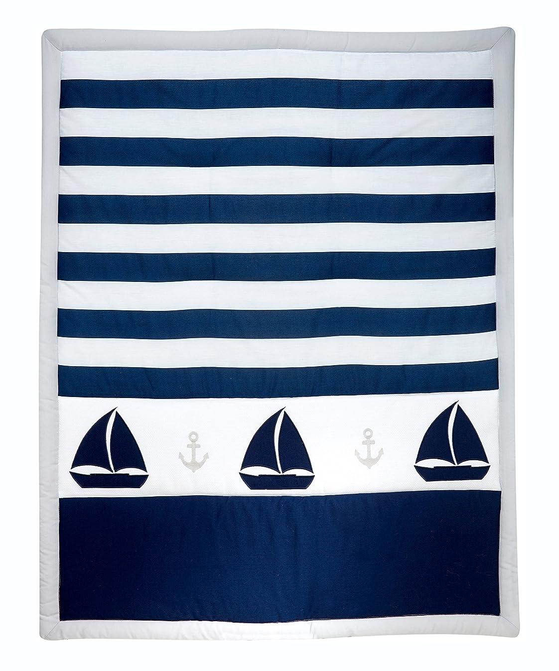 Nautica Kids Nursery Separates Comforter, Navy/Grey/White