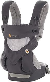Ergobaby 背帶,360全攜帶位置嬰兒背帶,配備涼爽空氣網格,碳灰色