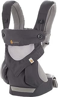 Ergobaby 背带,360全携带位置婴儿背带,配备凉爽空气网格,碳灰色