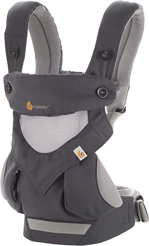 Ergobaby Carrier 360 All Carry Positions Baby Carrier With Cool Air Mesh Carbon Grey