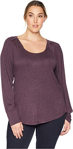 Plus Size Malin Puff Sleeve Knit Top