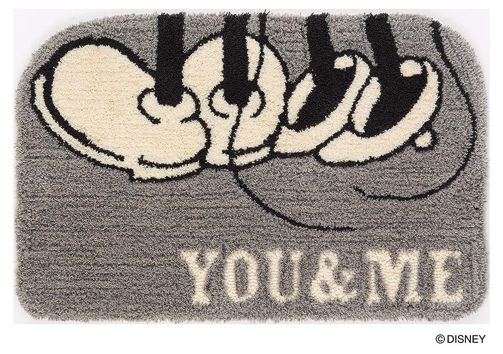 ピンポイント温室前方へスミノエ 玄関マット グレー 50×80cm ディズニー ミッキー ユーアンドミー 防ダニ DMM-4064