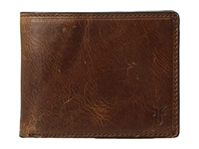 Frye Logan Slim ID Billfold (Cognac Antique Pull-Up) Bill-fold Wallet
