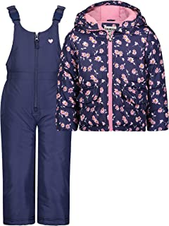 OshKosh B'Gosh Baby Girls Ski Jacket and Snowbib Snowsuit Outfit Set