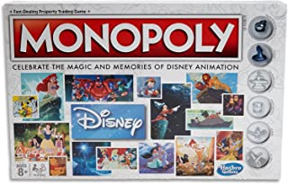 MONOPOLY - Disney Animation Edition - Snow White, Fantasia, Alladin ++ Family Board Games - Kids Toys - Ages 8+