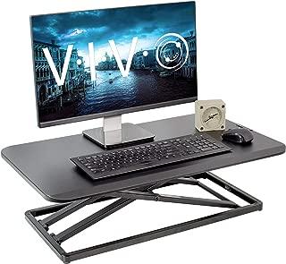 VIVO Economy Single Top Height Adjustable 29 inch Standing Desk Converter | Sit Stand Tabletop Monitor and Laptop Riser Platform Workstation (DESK-V000U)