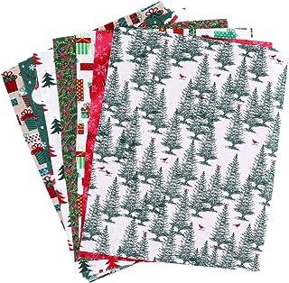 Conjunto de 10 folhas de tecido de algodão de Natal da Artibetter para costura em quadrados de tecido floral