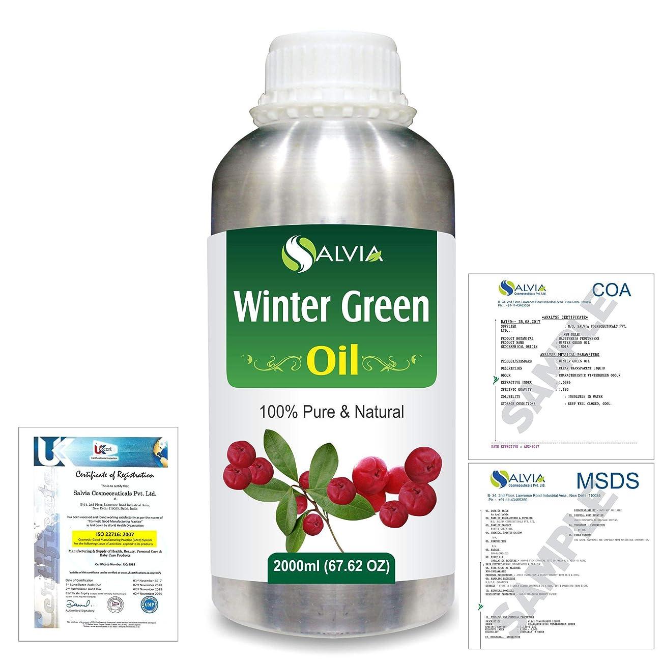 器具暗唱する保存Winter Green(Gaultheria Procumbens) 100% Natural Pure Essential Oil 2000ml/67 fl.oz.