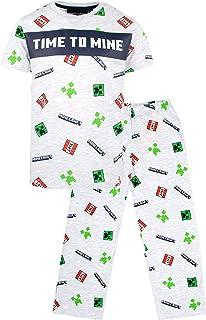 Minecraft - Minecraft - Pijama de manga corta para niños, diseño de Minecraft Minecraft con Minecraft Creeper - Ropa Minec...