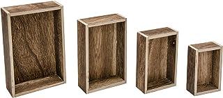 Advantus TH93279 Idea-Ology Wooden Vignette Boxes-Brown, Other, Multicoloured, 11.4x15.18x4.08 cm