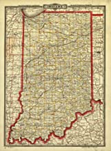 indiana county map with roads