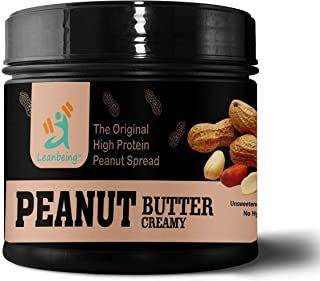 Leanbeing Peanut Butter Creamy 100% Natural (1 Kg) |Unsweetened, Non-GMO, Gluten Free | No Nasties Added Vegan | No Nasties Added