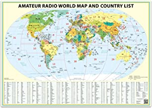 24x36 Ham Radio World Map 2020 Edition, with The DXCC Country List.