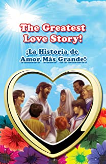 The Greatest Love Story! (Full Color) Pack of 25 Children Gospel Tracts - 20 pages ea. 3.25