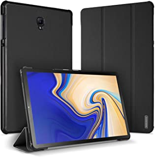 Samsung Tab S4 10.5 inch - SM-T830 / T835 Ultra Slim PU Flip Leather Case Cover - Black