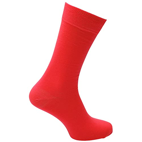 3c8b607ed248a Mens Plain Neon Coloured Socks (1 Pair)