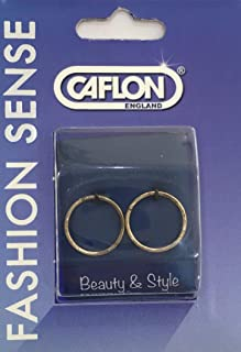 Caflon Girls Gold Plated Hoop Earrings Silver