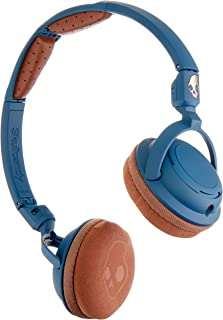 Skullcandy Lowrider Headphones with Rotating Earcups, Supreme Sound Tuning, All Day Comfort, and Built-In Mic; Perfect for Active Lifestyles and Easy Listening, Navy/Brown/Copper