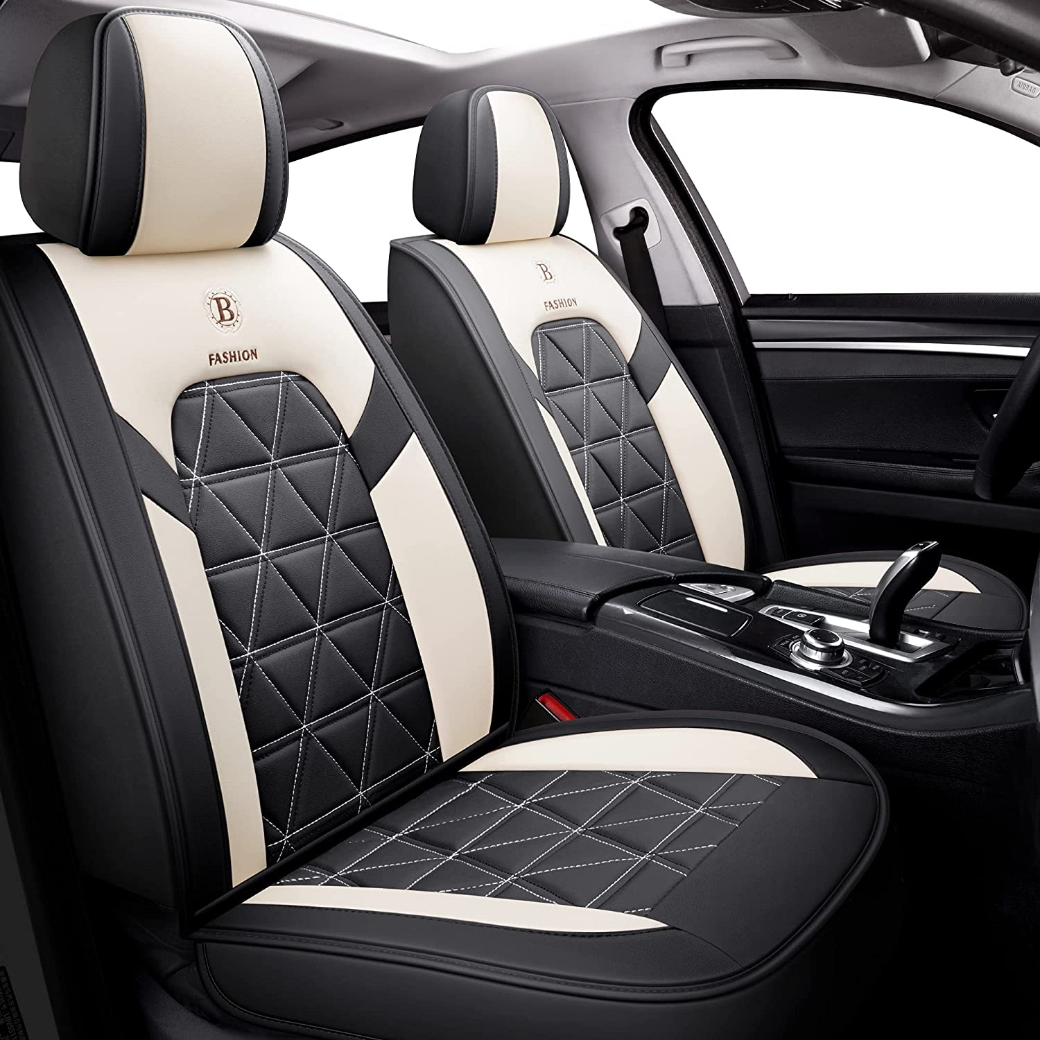 NS YOLO LeatherFabric Car Max 49% OFF Seat Recommendation Automot Leatherette Covers Faux