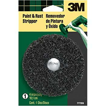 3M 7772ES Paint and Rust Stripper, 4 in., 1 Disc