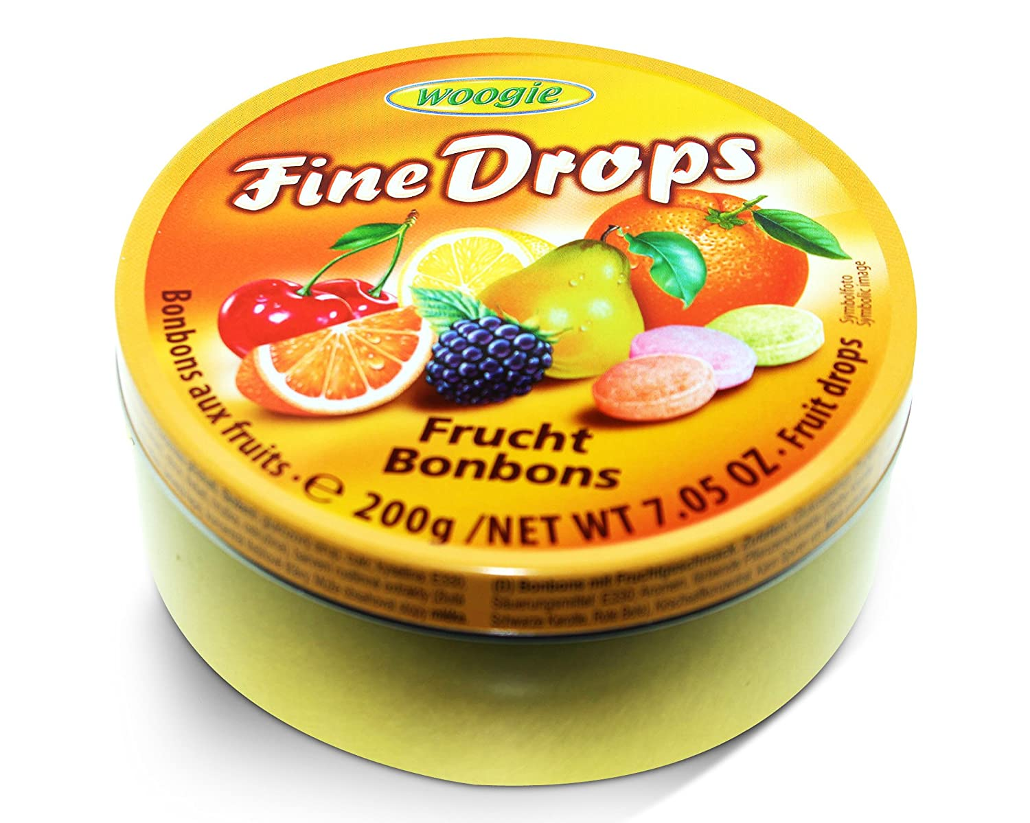 Woogie German Fine Drops New Orleans Mall Sanded Mix Tin 200gr Candy fruits Fru sale