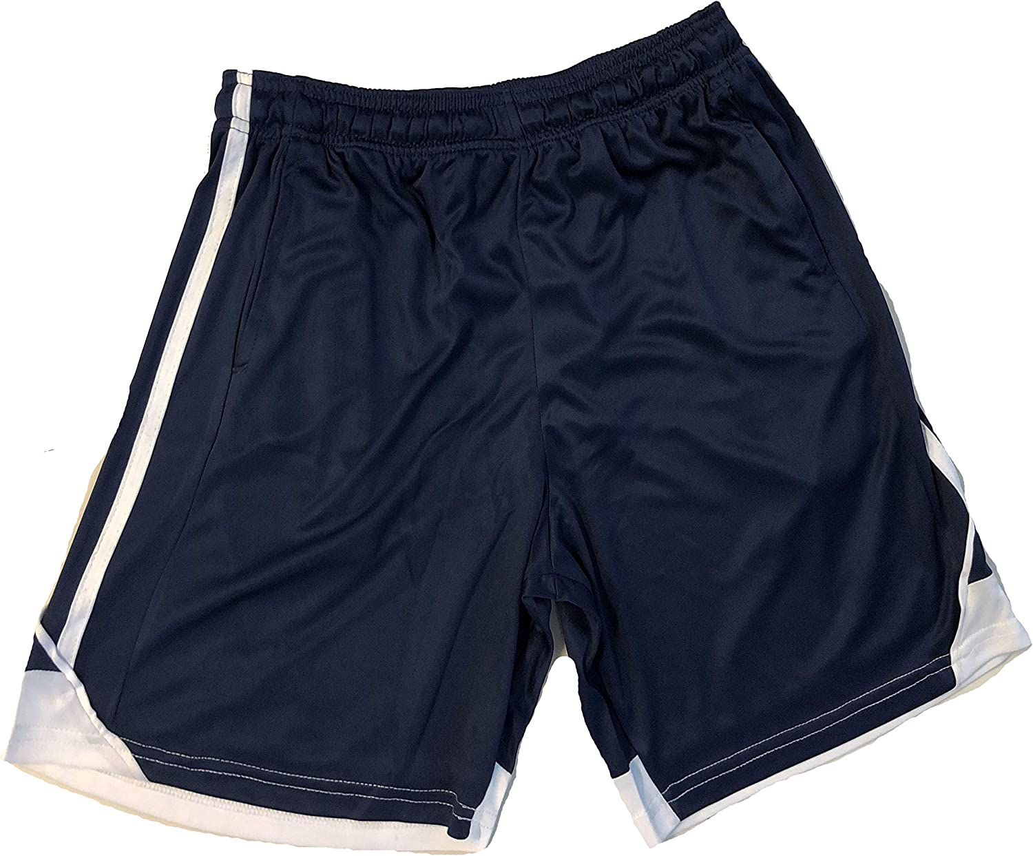 At The Buzzer Boys Athletic Stripe Basketball Sports Shorts with Pockets