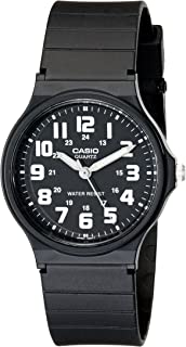 Unisex MQ-71-1BCF Classic Luminous Hands Watch With Black Resin Band