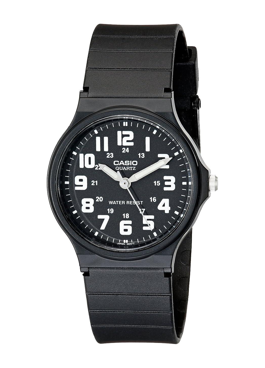 Casio Unisex MQ-71-1BCF Classic Luminous Hands Watch With Black Resin Band