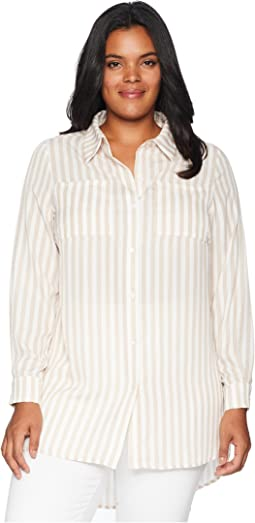 Plus Size Zora Button Up Tunic