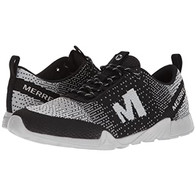 Merrell Versent Kavari Lace Knit (Black/White) Men
