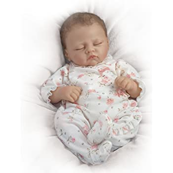 The Ashton - Drake Galleries 'Sophia' Touch-Activated So Truly Real® Baby Girl Doll – Lifelike baby doll that breathes, coos and has a heartbeat. Weighted for realism.