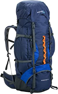skandika Eiger 80+10 litros - Mochila Trekking/montañismo - Peso 2,8 Kg - Protector Lluvia - siibato de Emergencia