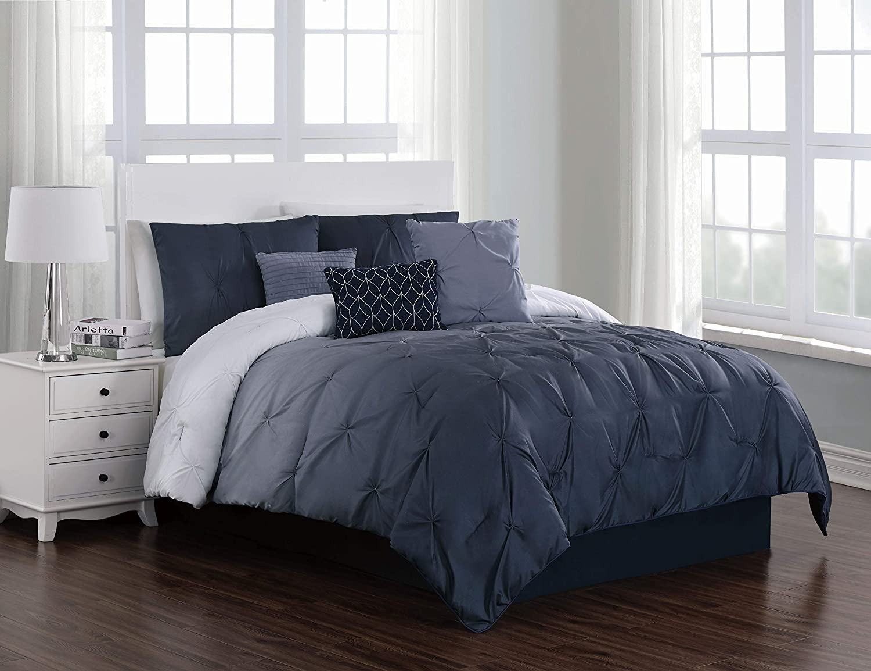 Geneva Home Fashion Bergen Ombre Comforter Set, Queen, bluee