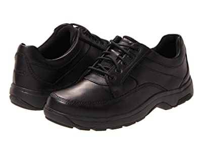 Dunham Midland Oxford Waterproof (Black Polished Leather) Men