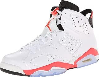 Jordan Air 6 Retro Men's Basketball Shoes White/Infrared-Black 384664-123