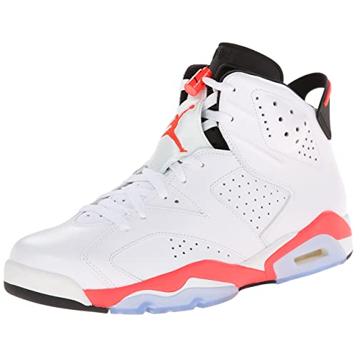 Jordan Air 6 Retro Mens Basketball Shoes White/Infrared-Black 384664-123