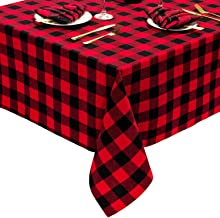 Kerstmis geruite Rechthoekige tafelkleed, tafelloper Controleer Plaid tafel dekken for Home Decoration, Family Dinne zcaqt...