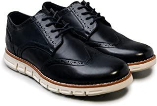NINE WEST Mens Wingtip Shoes | Casual Dress Shoes for Men | Lightweight Lace Up Mens Oxford Shoes | Fashion Shoes for Men with Deep Grooves in Outsole That Mimics Natural Motion of The Foot| Garnet